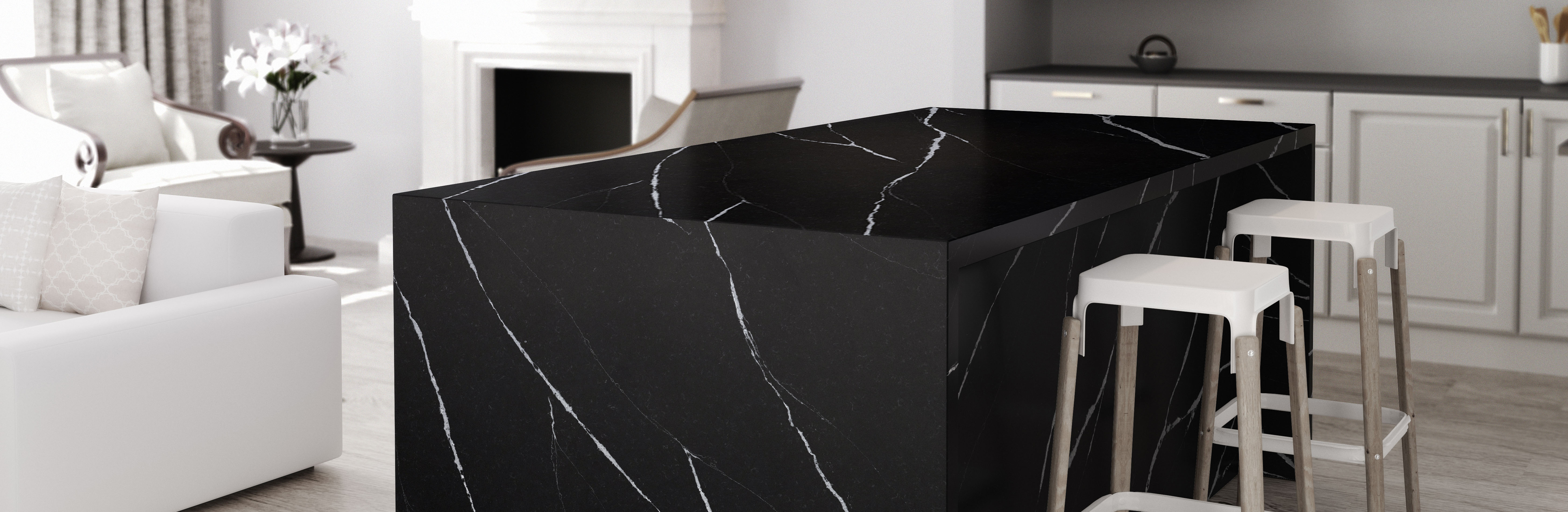 Cocina Kitchen; Dekton Superficies Ultracompactas Ultracompact Surfaces; Encimera Worktop Benchtop Countertop; Encuadre Completo Full Frame; Borea